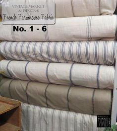 """French Farmhouse Fabric (12 styles!) , Farmhouse Decor - Vintage Market And Design, Vintage Market And Design  - 1"""