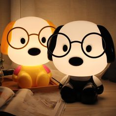 Table lamp with Doctor Dog, Kitty Cat and Kungfu panda theme. Its head provides illumination of tables, desks and other small spaces. This lamp is not only practical, but it also improves aesthetics of any type of room Cute Night Lights, Led Night Light, Bedroom Lamps, Kids Bedroom, Night Table Lamps, Baby Doll Nursery, Cute Room Decor, Cartoon Dog, Kid Beds