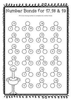 Number Bonds to 13 Free Math Worksheets | Pinterest | Printable ...