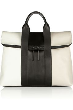 Hour color-block leather