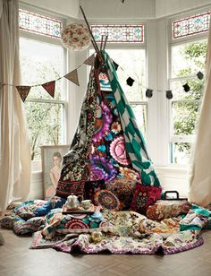 Hippie Boho Decor | Set design and styling for Urban Outfitters UK. Styling by Emma ...