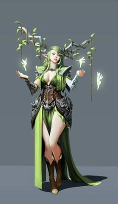 Female elf druid - pathfinder pfrpg dnd d&d fantasy Female Character Design, Character Design Inspiration, Character Concept, Character Art, Character Ideas, Fantasy Kunst, Fantasy Rpg, Fantasy Artwork, Fantasy Girl