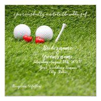 Golf Wedding Invitation Cards and Party Supplies - Thaninee Media Modern Wedding Favors, Golf Wedding, Sports Wedding, Wedding Cards, Postcard Wedding Invitation, Wedding Invitations, Golf Party Favors, Golf Christmas Gifts, Groomsmen Invitation