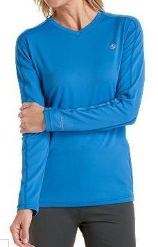 24ee4668ebf5 Coolibar blue sun protection women s long sleeve sport t-shirts  light