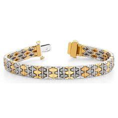 2.00 Karat Brillantarmband in 585er/750er BI-Color Gold  #diamantarmband #diamonds #diamante #diamanten #gold #schmuck #diamantschmuck #juwelier #abt #dortmund