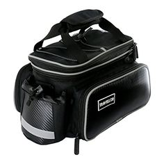 [Bicycle Bag] Travellor [Waterproof] [Rear Seat Trunk Bag] Multi-functional 600D Oxford Bag Pannier Cycling Rear Rack Handbag Bike Accessories Black >>> You can find out more details at the link of the image.