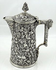 Bailey & Co philadelphia sterling repousse chocolate pot