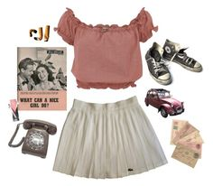50's Doll by angelnymphet on Polyvore featuring Lacoste, Converse and Retrò