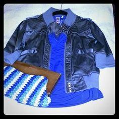 Jackets & Blazers - Grey bomber jacket