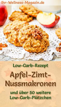 Low Carb Apple Cinnamon Nut Macaroons Simple Cookie Recipe for Christmas Biscuits Healthy Casserole Recipes, Easy Cookie Recipes, Paleo Recipes, Low Carb Recipes, Galletas Paleo, Cookies Healthy, Sugar Free Cookies, Paleo Dessert, Macaron