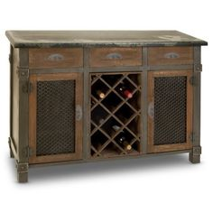 Thinking this might work for my kitchen?  Thoughts anyone?     Find it at the Foundary - Wood Wine Cabinet