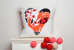 Cushion by Norwegian design agency Darling Clementine.