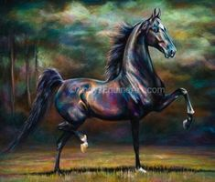 Andy's Contenporary Equine Art. My favorite saddlebred artist. Have this and love it.