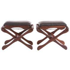 1stdibs.com | Pair of Don Shoemaker folding stools