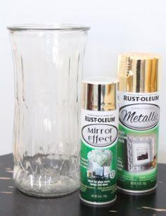 Trash to Treasure: DIY Gold Quecksilberglas - Glas