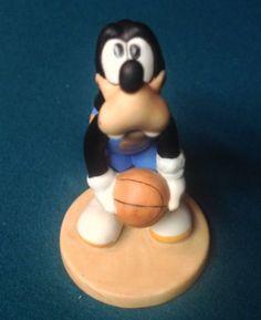 Vtg Disney Goofy Basketball Sports Porcelain Bisque Figurine Sri Lanka   eBay
