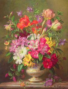 Albert Williams,paintings-pictures-with-flowers-nature-