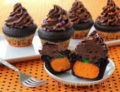 Secret Pumpkin Cupcakes