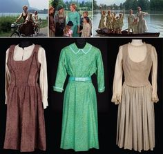 Julie Andrews in The Sound of Music  Dresses (L-R) sold for $550,000 / $45,000 / $42,500
