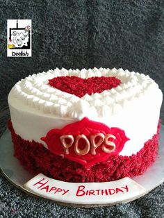Cake for DAD- Heart cake- Red cake- dee lish cakes- Functionmania.com      FunctionMania.com is your Function Planning Resource, FunctionMania features Best vendors, True stories, ideas and inspiration | photographers, decorators, Make-up artists, venues, Designers etc
