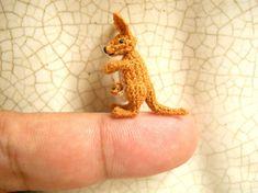 Miniature Crochet Animals, Tiny Dolls, Amigurumi Toys by SuAmi Crochet Art, Crochet Animals, Crochet Toys, Crochet Dinosaur, Crochet Elephant, Red Kangaroo, Elephant Stuffed Animal, Japanese Crochet, Bead Sewing