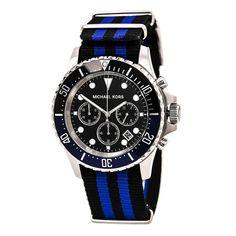 f4fb84e2dcc4 Michael Kors Men's MK8398 'Everest' Chronograph and blue Watch Brand Name  Watches, Fine