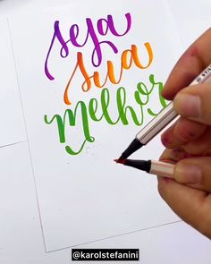 Bullet Journal Mood Tracker Ideas, Bullet Journal Lettering Ideas, Bullet Journal Inspiration, Hand Lettering Art, Hand Lettering Tutorial, Brush Lettering, Learn Calligraphy, Calligraphy Quotes, Calligraphy Letters