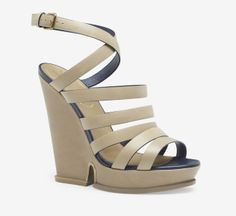 Yves Saint Laurent Rive Gauche Taupe Wedge