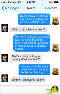 Texts From Superheroes. Funny Marvel Memes, Marvel Jokes, Dc Memes, Avengers Memes, Funny Comics, Funny Memes, Hilarious, Marvel Films, Marvel Dc