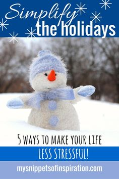 During the fall & winter months, life gets crazy with all of the holiday parties and expectations! Simplify your life by doing these 5 things!