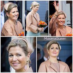 02-04-2014  Queen Maxima at the naming of the Nh1816, lifeboat of the KNRM (Koninklijke Nederlandse Redding Maatschappij) in IJmuiden.