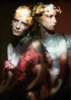 Vogue Italia January 1998, Episodi by #Paolo Roversi #Light Painting