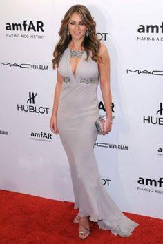 Elizabeth Hurley Sexy Prom Evening Dress 001