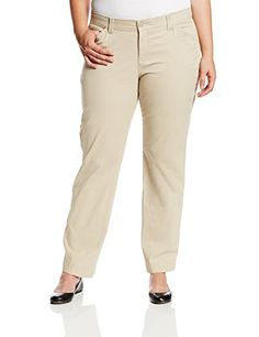 aaebe3c5c7dcf Lee Women s Plus-Size Comfort Fit Kassidy Straight Leg Pant