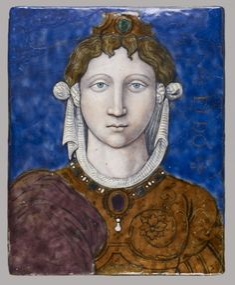 Dido.   Léonard Limosin (French, ca. 1505-ca. 1575)  ca. 1540 (Renaissance)  painted enamel on copper