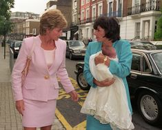 Princess Diana pictured with pal Rosa Monckton at the christening of her goddaughter Domenica