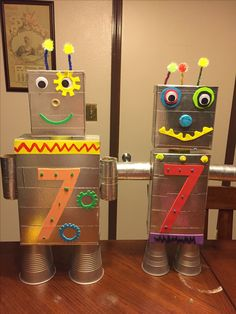 Robot Themed Party-centerpieces
