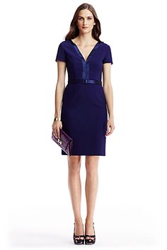 Not sure whether this DVF dress would work with my lingering baby belly BUT love the rich color and the lines.