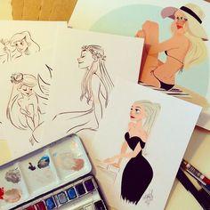 Pernille Ørum est une illustratrice qui vit à Copenhague au Danemark, elle est diplômée en animation de personnages par l'école &qout;The Animation Workshop of Denmark&qout;. Je trouve que son univers et ses personnages sont superbes, j'aime le style qu'elle utilise, un style qui n'est pas sans me rappel…