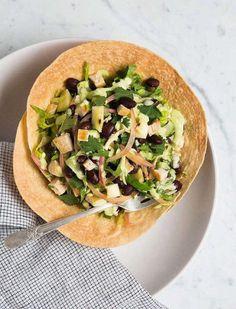 Detox Tostada Salad with Cilantro Cashew Dressing Recipe Detox Recipes, Clean Recipes, New Recipes, Whole Food Recipes, Dinner Recipes, Healthy Recipes, Favorite Recipes, Clean Eating, Salads