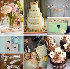 Scrabble Themed Wedding | Scrabble Wedding Decor | Crossword Wedding
