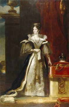Queen Adelaide wearing the George IV crown