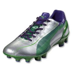 75a8ba54b128 PUMA evoSpeed 1 FG (Puma Silver Team Green) Football Boots