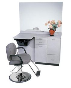 salon sink and styling chair