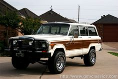 POTL Wagoneer Limited- I would drive this one too! Chevy Diesel Trucks, Dodge Trucks, Chevrolet Trucks, Cool Trucks, Pickup Trucks, 1957 Chevrolet, Chevrolet Impala, Lifted Trucks, Two Door Jeep Wrangler