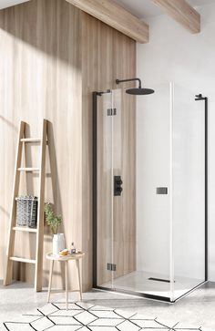 Transform your bathroom into a clutter-free haven of elegance. Bring elements of the outdoors inside with plenty of wood finishes and pair with dramatic black bathroom fittings for an urban cool feel. Ensuite Bathrooms, Rustic Bathrooms, How To Distress Wood, Shower Doors, Amazing Bathrooms, Mindfulness, Cool Stuff, Elegant, Simple