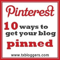 """10 Ways to get your blog pinned. Shared by @PamelaMKramer """"Let's Learn Together!"""""""