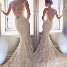 How stunning is this Wedding Dress? #inspiration