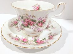 Royal Albert Tea Cup and Saucer, Lavender Rose Pattern, Antique Teacups, Vintage Tea Party, Antique Tea Cups, English Bone China Cups by AprilsLuxuries on Etsy