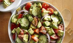 Cucumber, Tomato and Avocado Salad